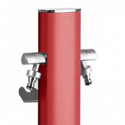 Colonnina idrica ovale Aquapoint TOTEM 407R - h 120 cm - Colore rosso corallo