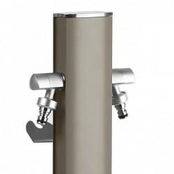 Colonnina idrica ovale Aquapoint TOTEM 407G - h 120 cm - Colore grigio tortora