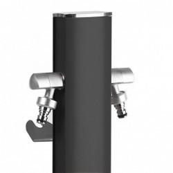 Colonnina idrica ovale Aquapoint TOTEM 407N - h 120 cm - Colore nero metal