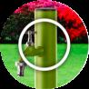 La colonnina idrica costituisce un punto di distribuzione d'acqua per il nostro giardino o prato.